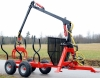 6TON high quality timber trailer with crane from Rima